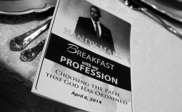 "Handy Hall Hosts ""Breakfast With My Profession"""