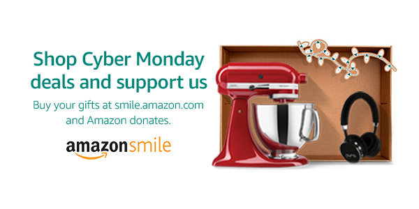 It's CYBER MONDAY: Support PFA through AmazonSmile!
