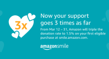 Triple the Impact: Shop at AmazonSmile!